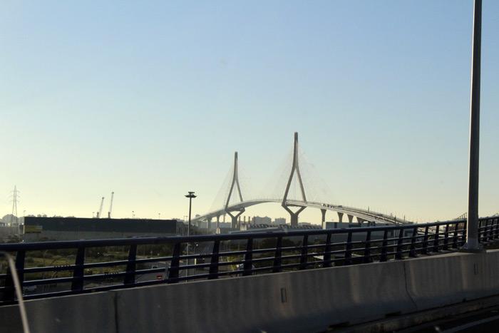 Bahía de Cádiz. Puente atirantado