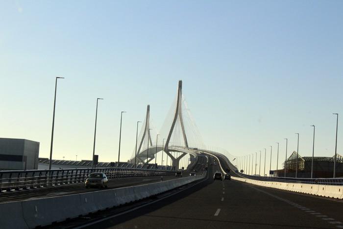 Puente atirantado. Cádiz.