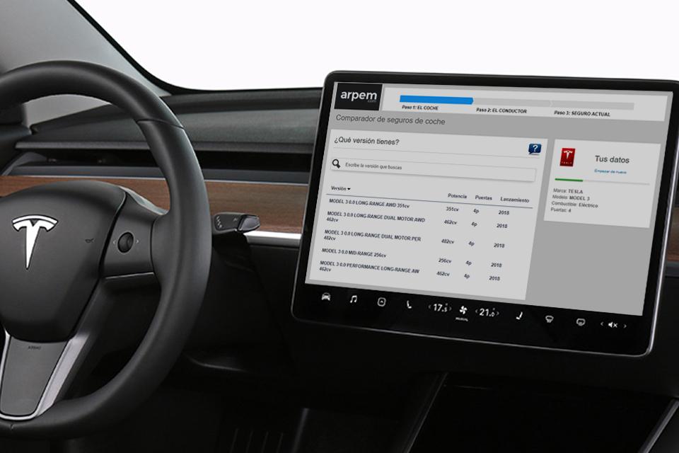 Así contratamos el seguro del Tesla Model 3 en arpem.com