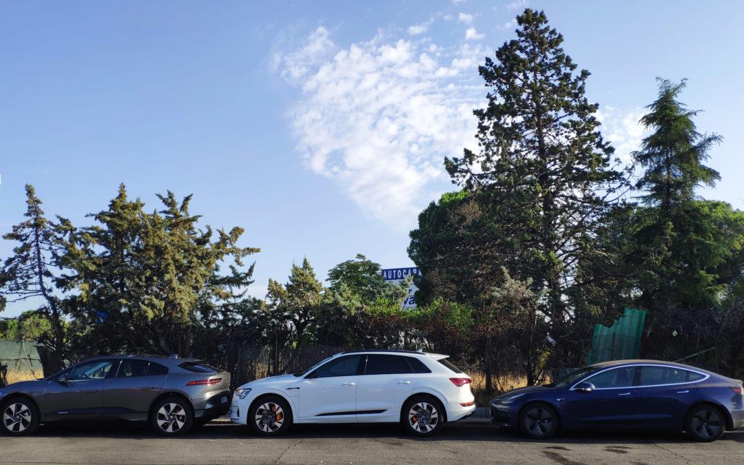 Problemas de recarga en nuestro Model 3 durante una comparativa con un Audi e-tron y un Jaguar I-PACE