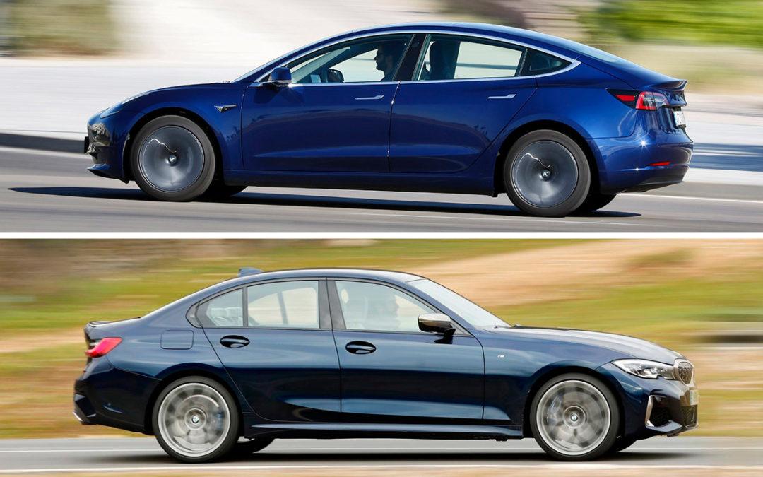 Comparaciones entre el Tesla Model 3 y el BMW M340i xDrive (primera parte)