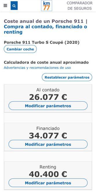 Coste anual de tu coche. Calculadoras de km77