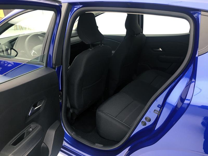 Dacia Sandero. Asiento y espacio posterior