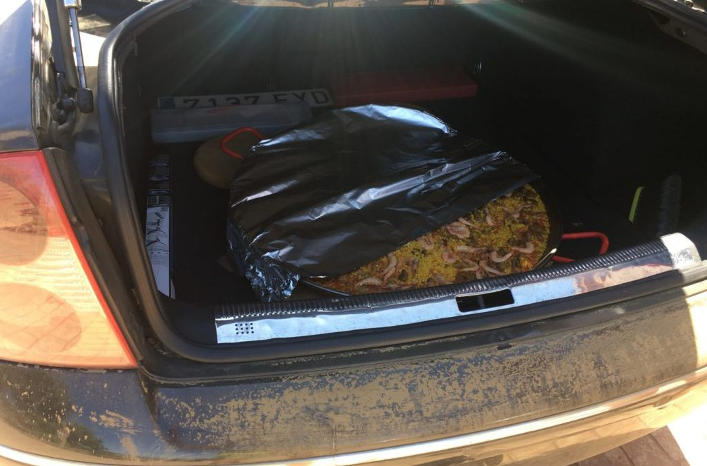 Transporte especial para una paella