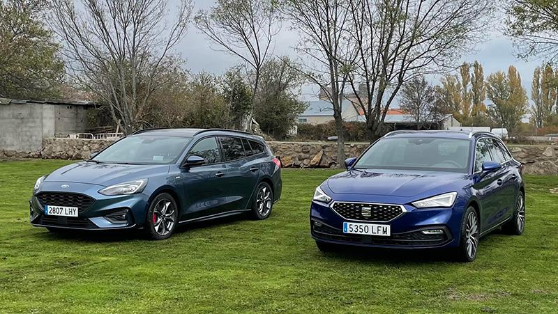 Vídeo comparativa de turismos familiares: Ford Focus Sportbreak 1.0 EcoBoost MHEV 155 CV y SEAT León Sportstourer 1.5 TSI 150 CV