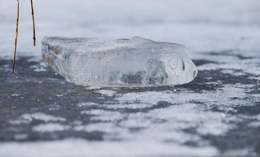 Bloque de hielo. Transporte
