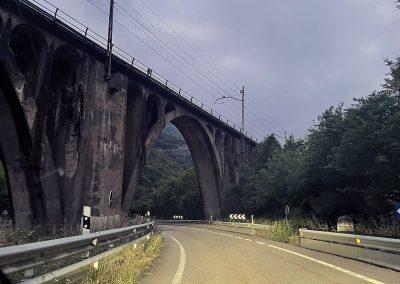 Puente para el tren. Fresneo