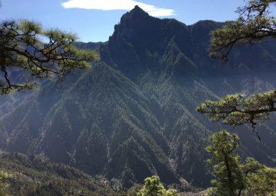 Pico Bejenado desde la Caldera de Taburiente