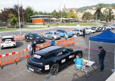 II Eco rallye Bilbao - Petronor. Porsche Taycan Turbo S. Pesaje.