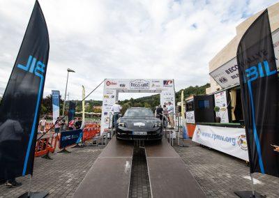 II Eco rallye Bilbao - Petronor. Podio de salida