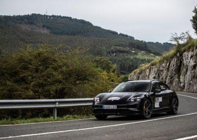 II Eco rallye Bilbao - Petronor. Porsche Taycan Turbo S