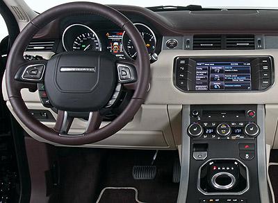 Land Rover Range Rover Evoque. Imágenes de interior.