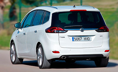 Opel Zafira Tourer. Modelo 2012.
