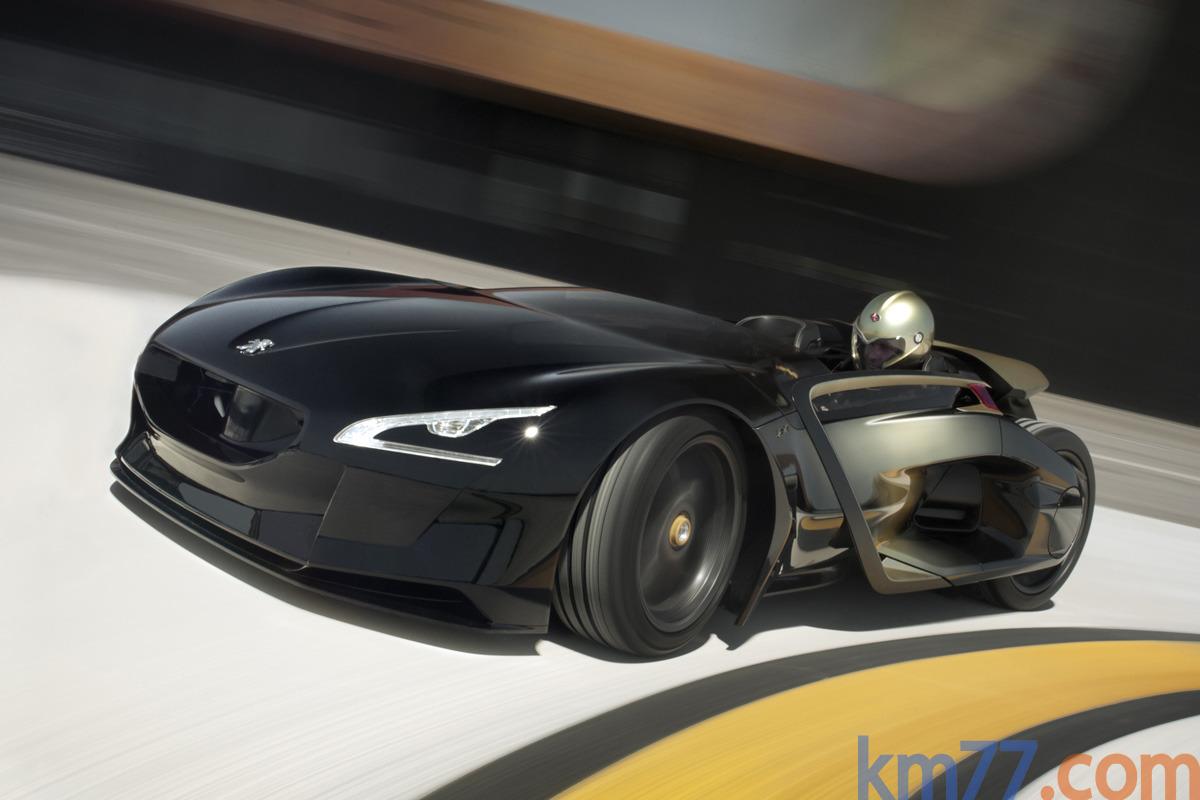 Matte black Peugeot RCZ