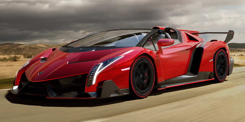 Lamborghini Veneno Roadster. Modelo 2014. frontal-movimiento
