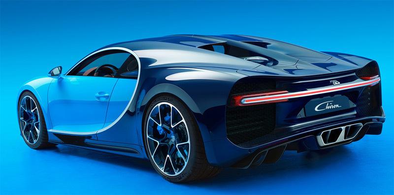 Bugatti Chiron. Imagen posterior
