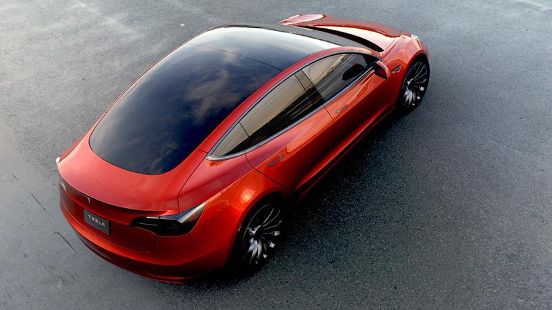 Tesla Model 3 2018. Imágenes exteriores