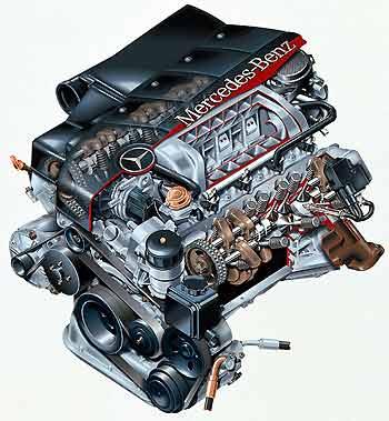 Motor V8 del CL 500